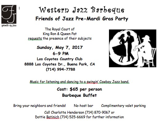 WESTERN JAZZ BBQ THIS SUNDAY